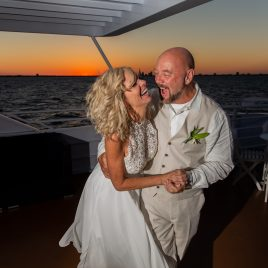 Wedding on yacht starship tampa clearwater florida wedding photographer